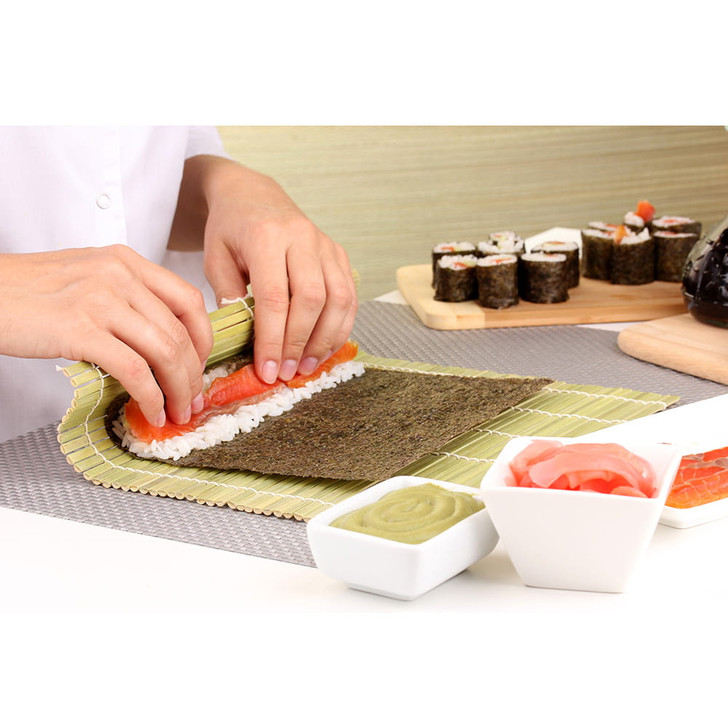 Helen's Asian Kitchen Bamboo Sushi Mat and Paddle