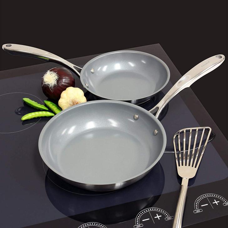 Chantal Induction 21 Steel Ceramic Coated Fry Pan Set