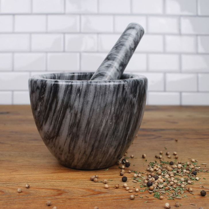 RSVP Grey Marble Mortar and Pestle