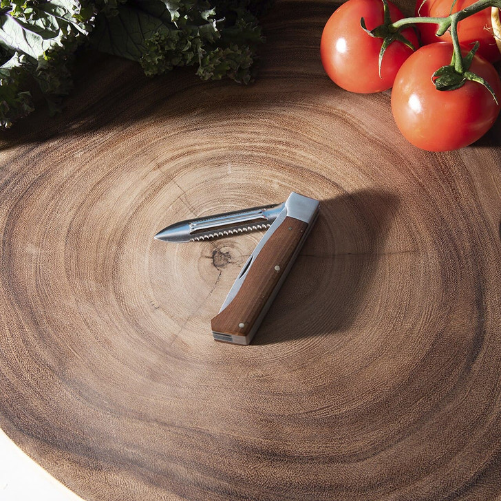 Adventure Chef Folding Paring Knife with Maple Handle