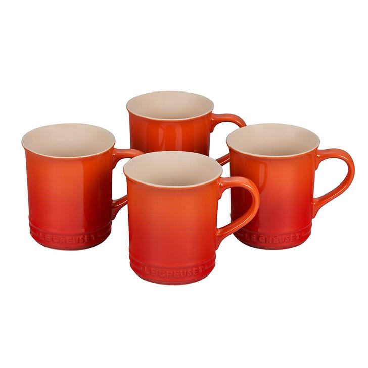 Le Creuset Mugs in Flame