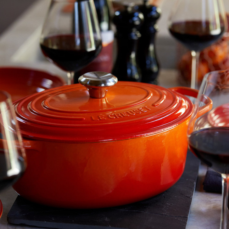 Le Creuset Cast Iron Oval Dutch Oven in Flame