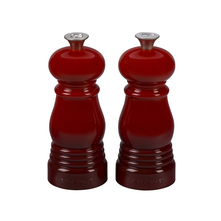 Le Creuset Petite Salt and Pepper Mill Set in Cerise Red