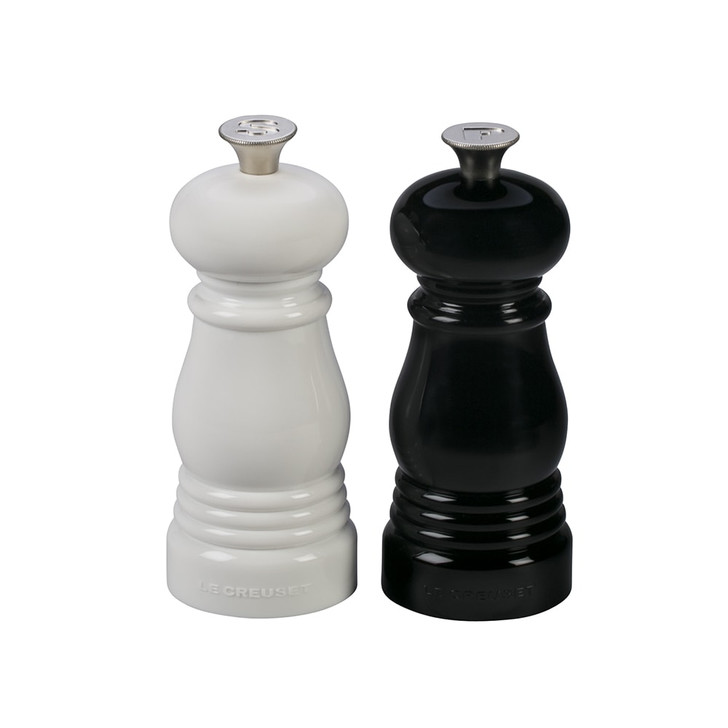 Le Creuset Petite Salt and Pepper Mill Set in Black and White