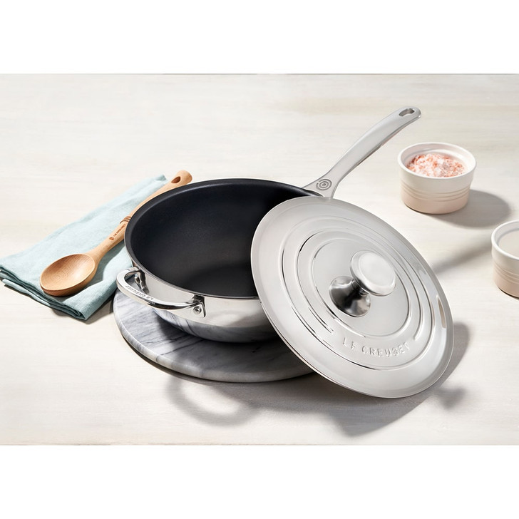 Le Creuset Nonstick Stainless Steel Saucier Pan