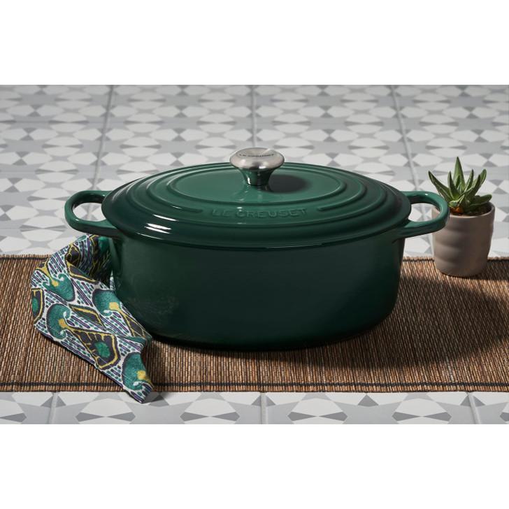 Le Creuset Cast Iron Oval Dutch Oven in Artichaut