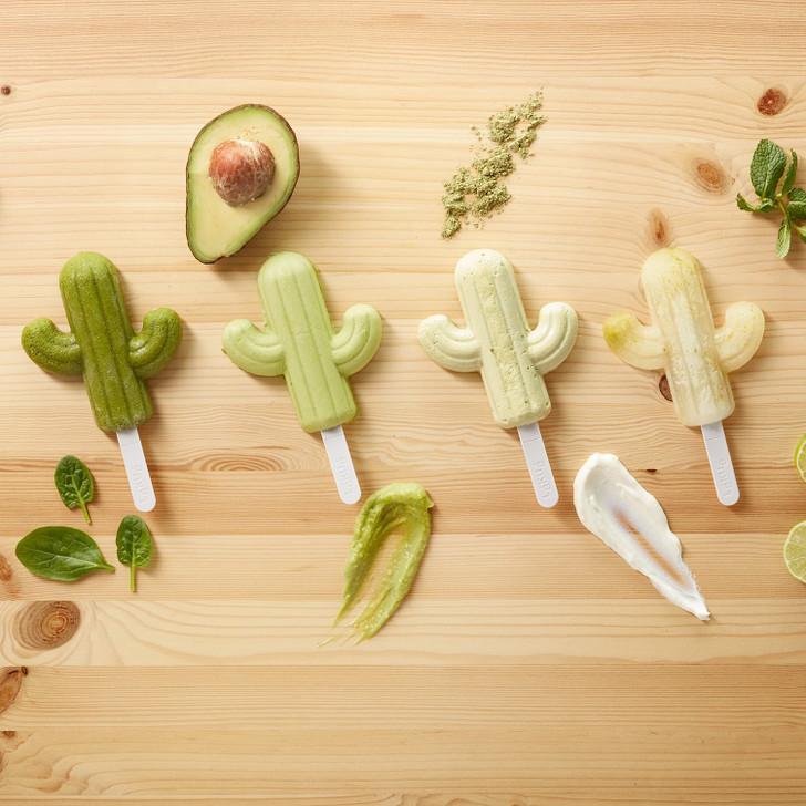 Lékué Set of Four Cactus Popsicle Molds