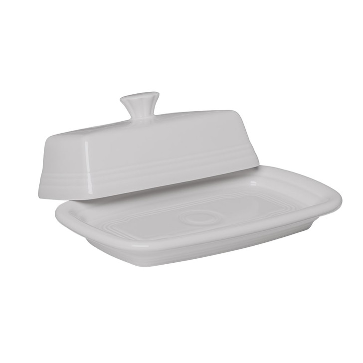 Fiesta Covered Butter Dish in White