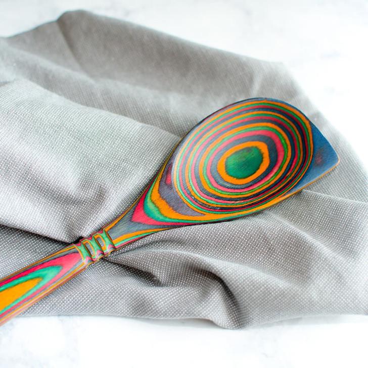 Island Bamboo Corner Spoon in Rainbow