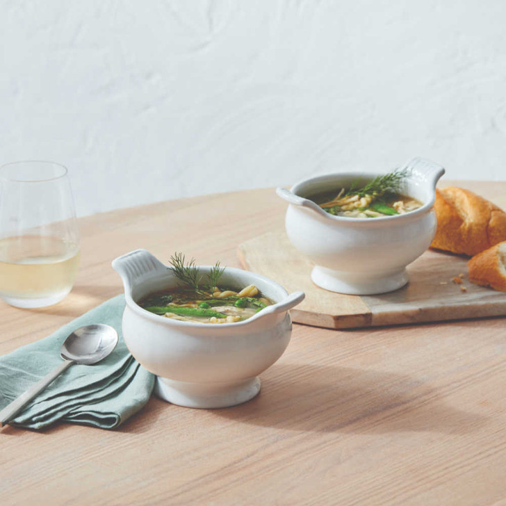 Le Creuset Heritage Soup Bowl in White