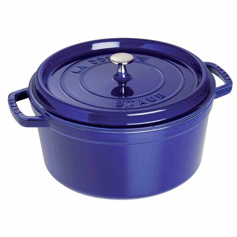 Staub 9-Quart Cast Iron Round Cocotte in Dark Blue
