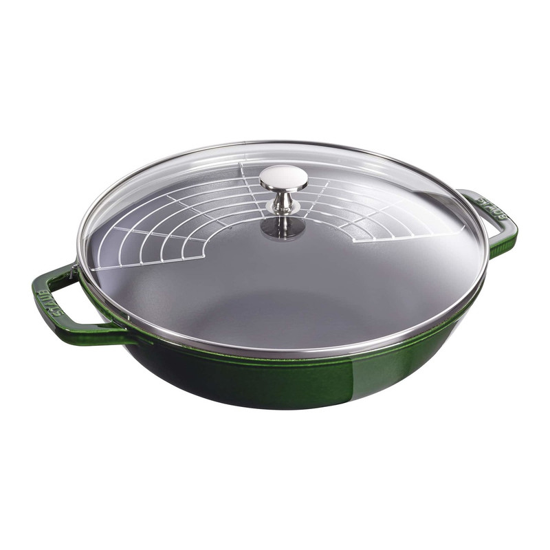 Staub Cast Iron Perfect Pan in Basil Green