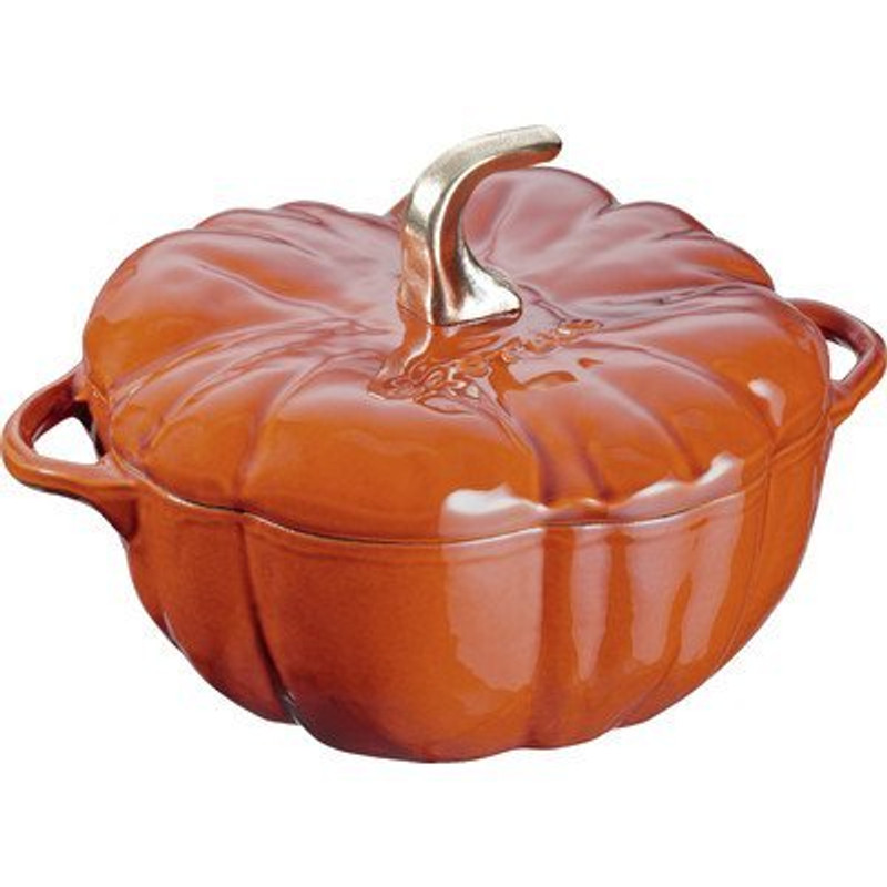 Staub Cast Iron Pumpkin Cocotte in Burnt Orange