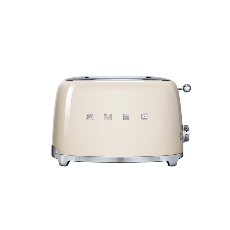 SMEG 2-Slice Toaster in Cream