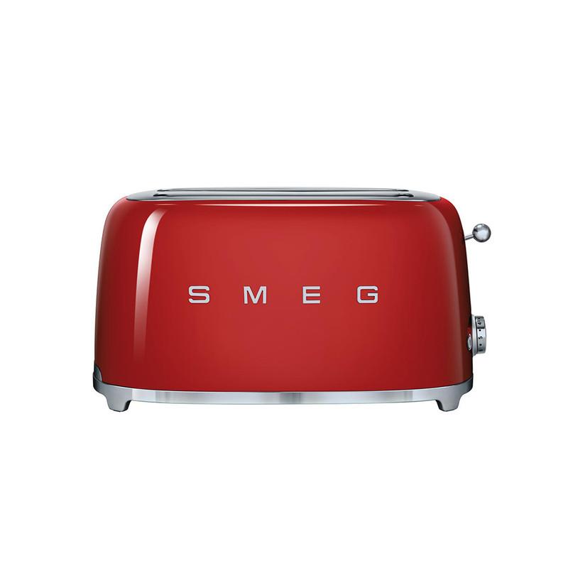 SMEG 4-Slice Toaster in Red