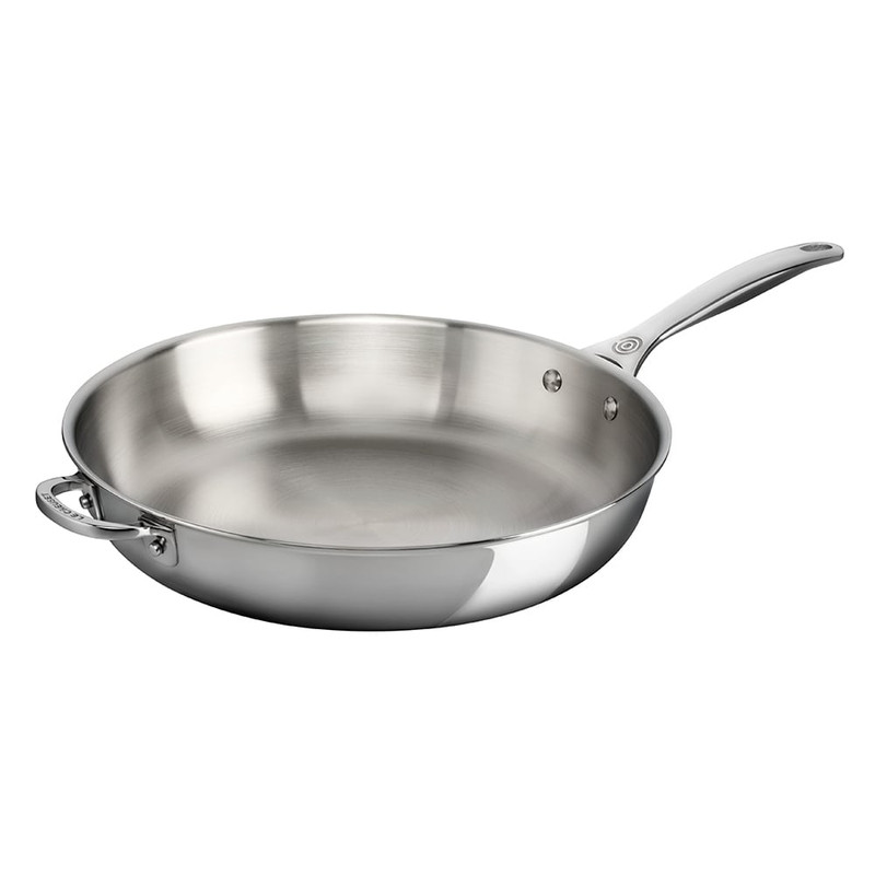 Le Creuset 12.5-inch Stainless Steel Deep Fry Pan