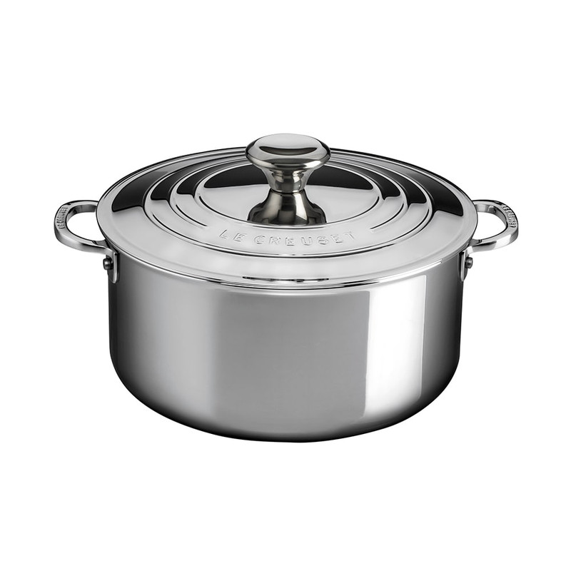 Le Creuset Stainless Steel Shallow Casserole
