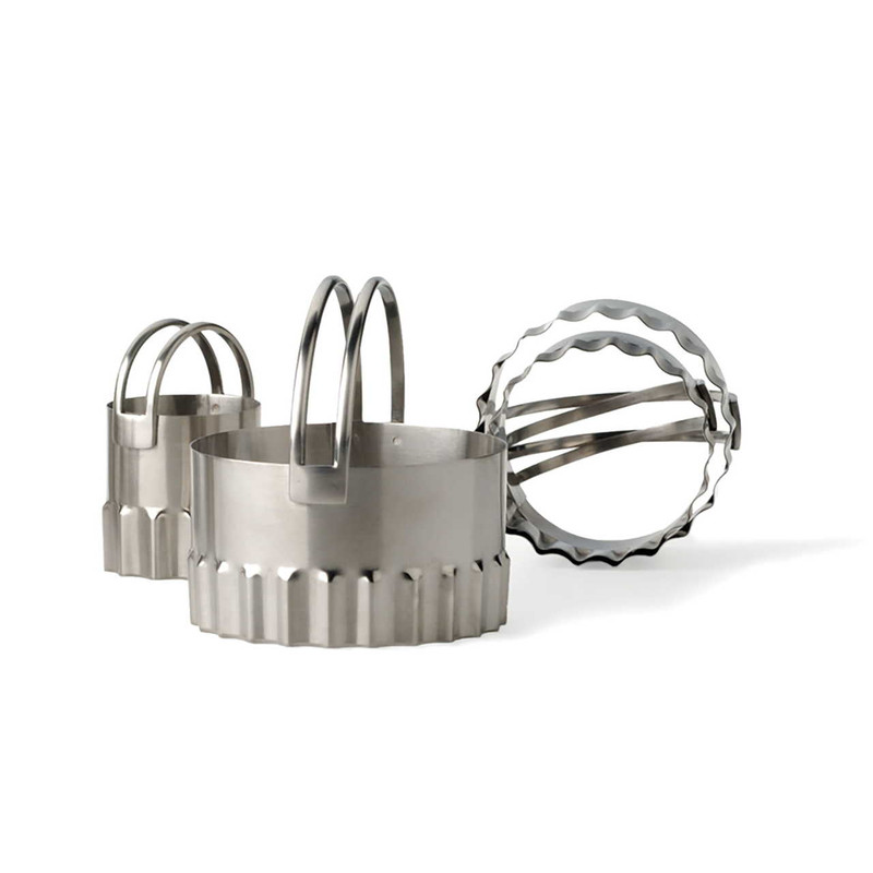 RSVP Endurance Rippled Biscuit Cutters
