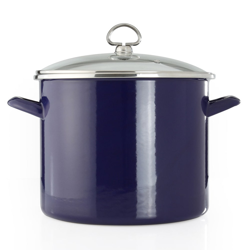 Chantal Covered Stock Pot in Cobalt Blue