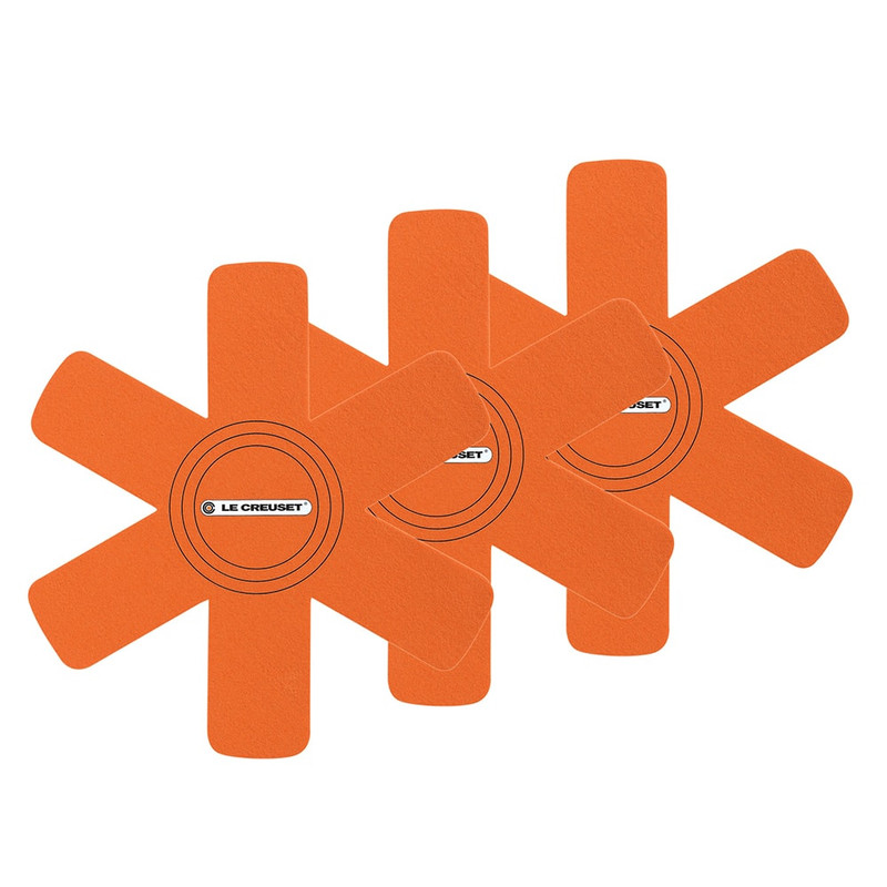 Le Creuset Felt Pan Protectors in Flame Orange