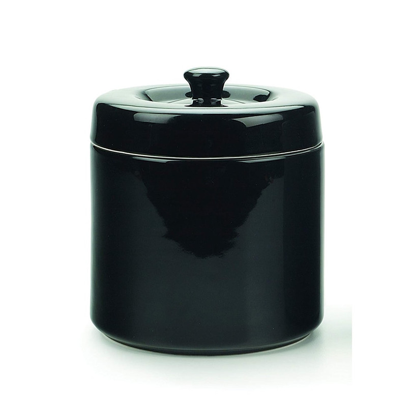 RSVP Endurance Black Stoneware Grease Keeper