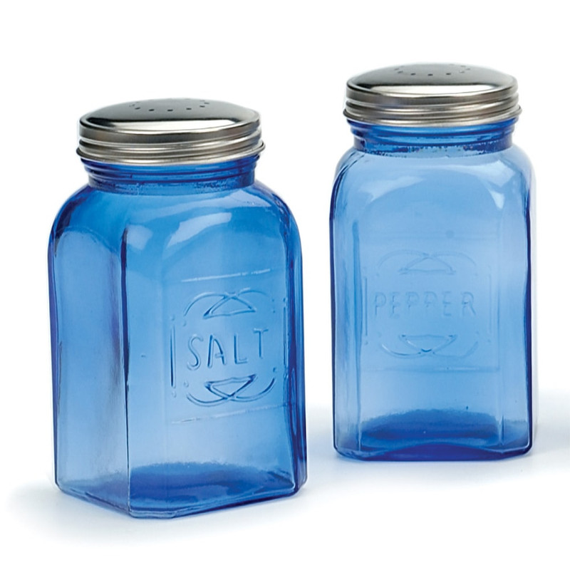 RSVP Endurance Retro Salt & Pepper Shakers in Blue