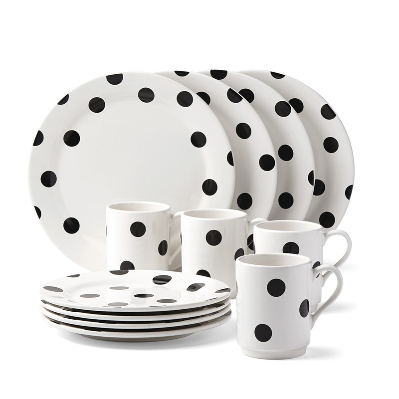 Kate Spade Deco Dot 12-Piece Dinnerware Set