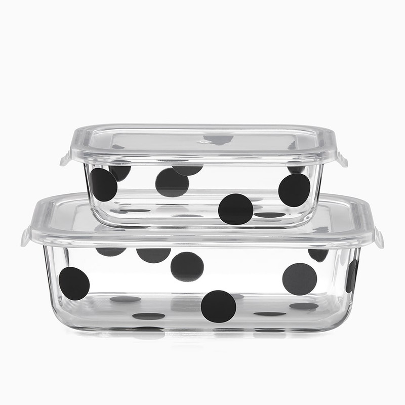 Kate Spade Deco Dot Rectangular Food Storage Containers