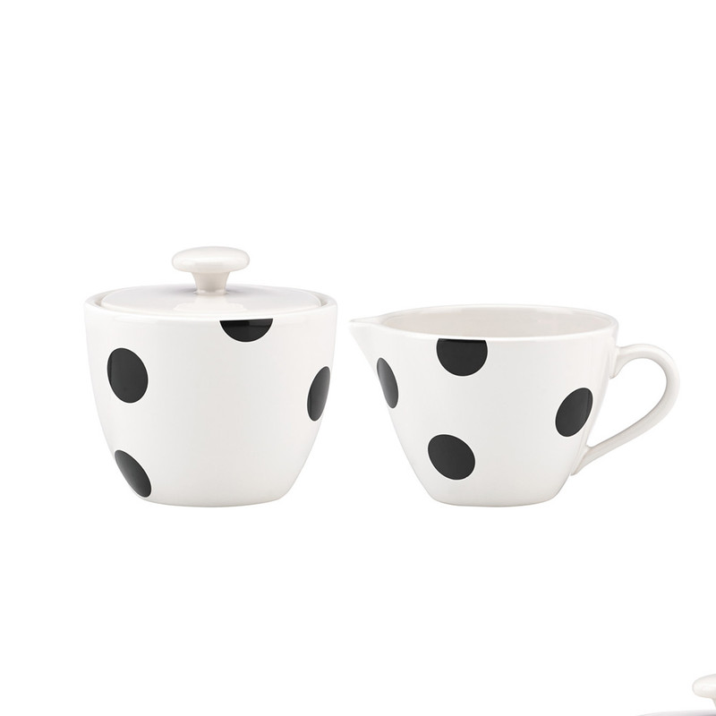 Kate Spade Deco Dot Sugar and Creamer Set