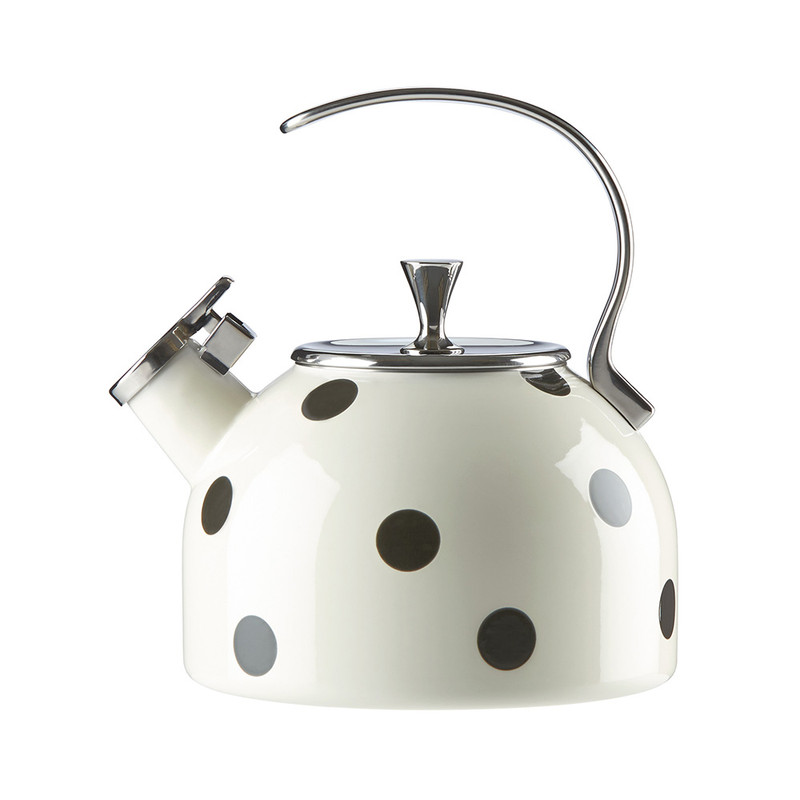 Kate Spade Deco Dot Tea Kettle in Black