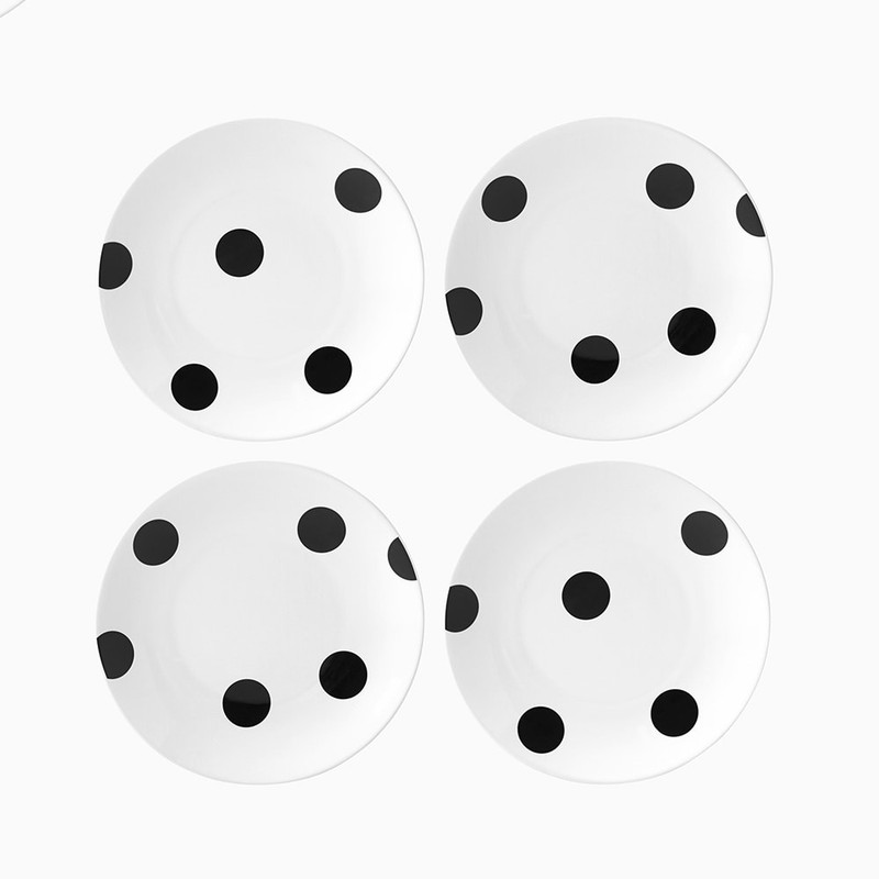 Kate Spade Deco Dot Tidbit Plate Set