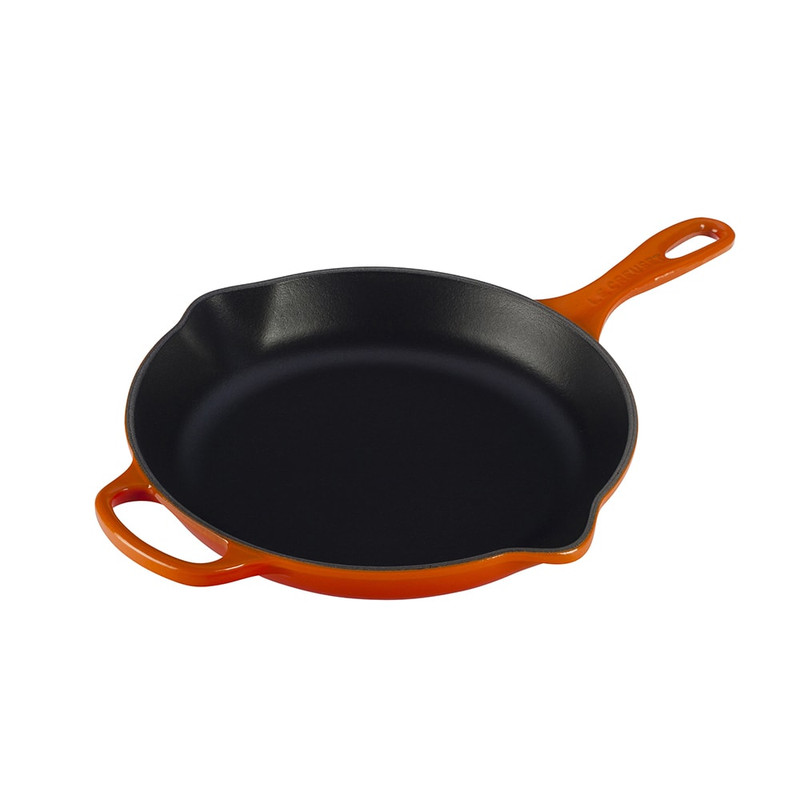Le Creuset 10.25-Inch Signature Skillet in Flame