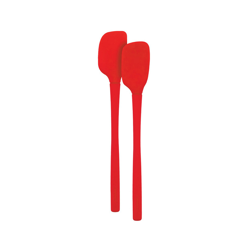 Tovolo Flex-Core All Silicone Mini Spatula & Spoonula in Candy Apple