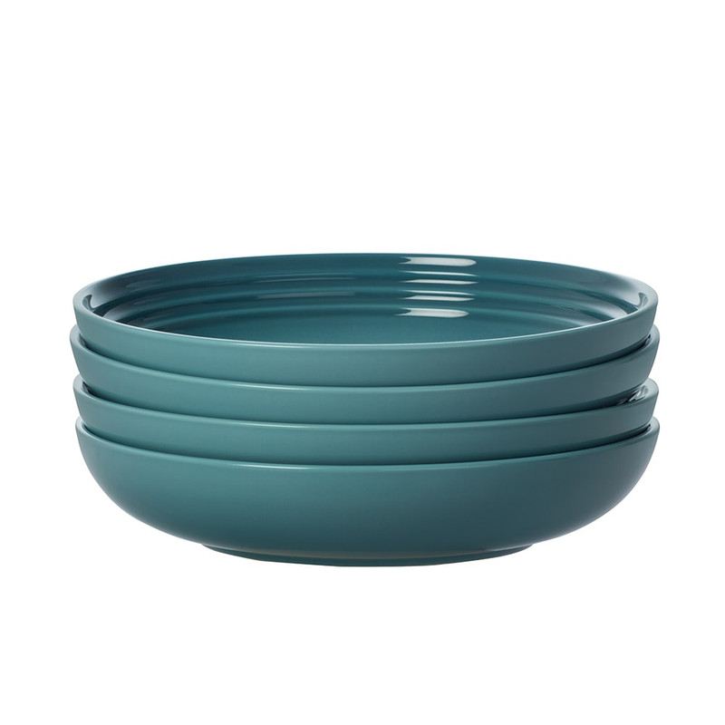 Le Creuset 8.5-Inch Pasta Bowls in Caribbean