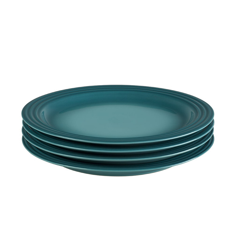 Le Creuset 10.5-Inch Dinner Plates in Caribbean