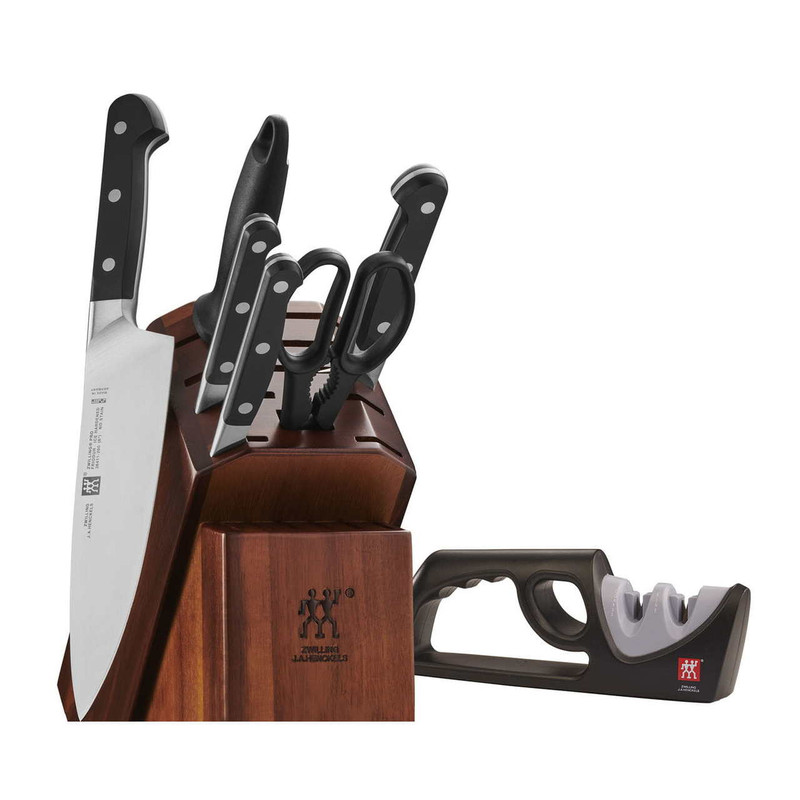 Zwilling Pro 7-Piece Knife Block Set with Sharpener