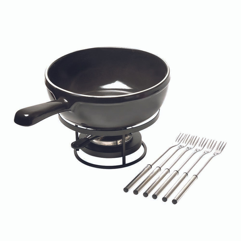 Emile Henry Fondue Set in Charcoal