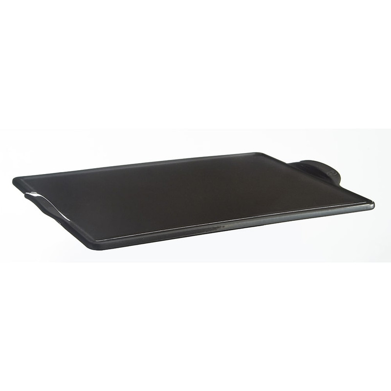 Emile Henry Rectangular Pizza Stone in Charcoal