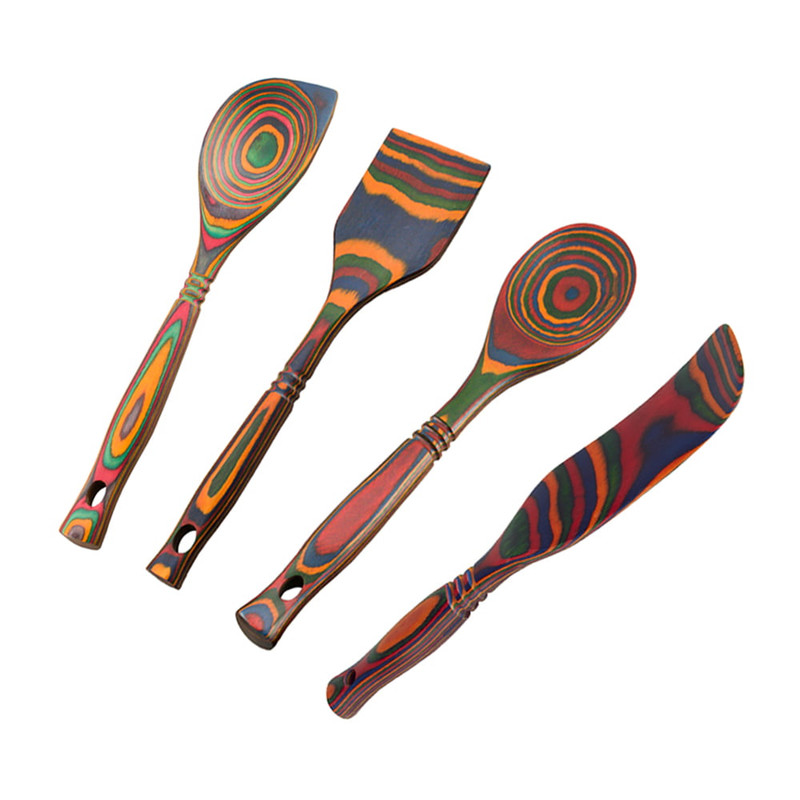Island Bamboo Four Piece Tool Set in Rainbow