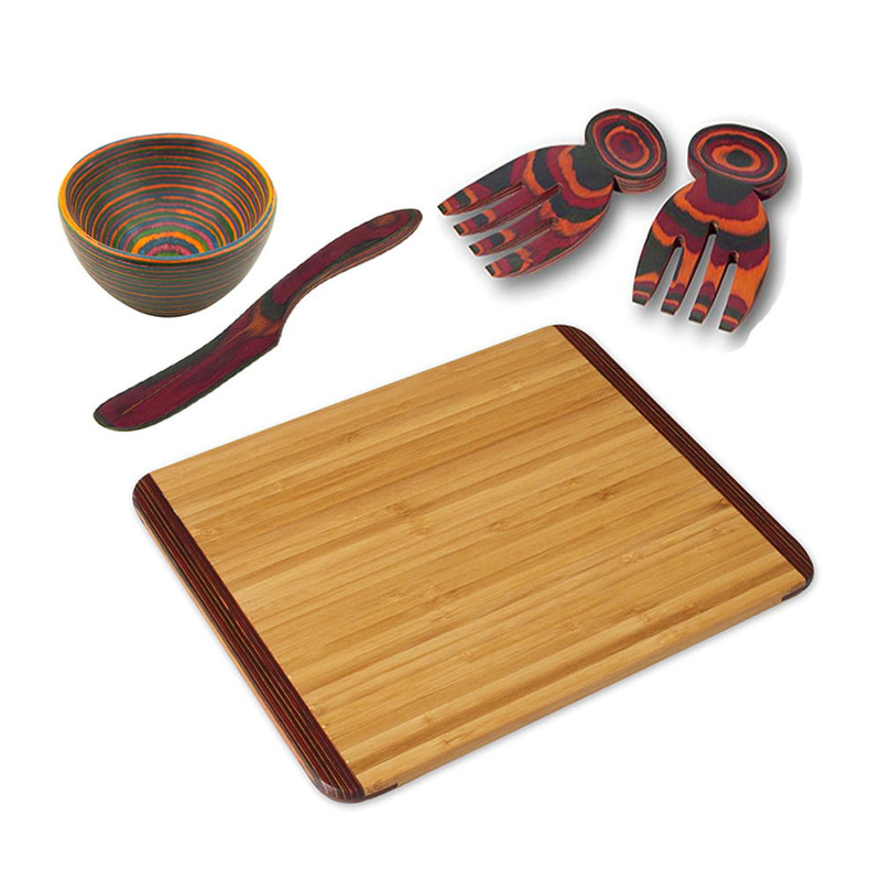 Island Bamboo Five Piece Party Set