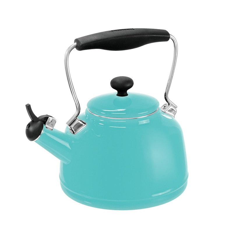 Chantal Enamel-on-Steel Vintage Tea Kettle in Aqua Blue