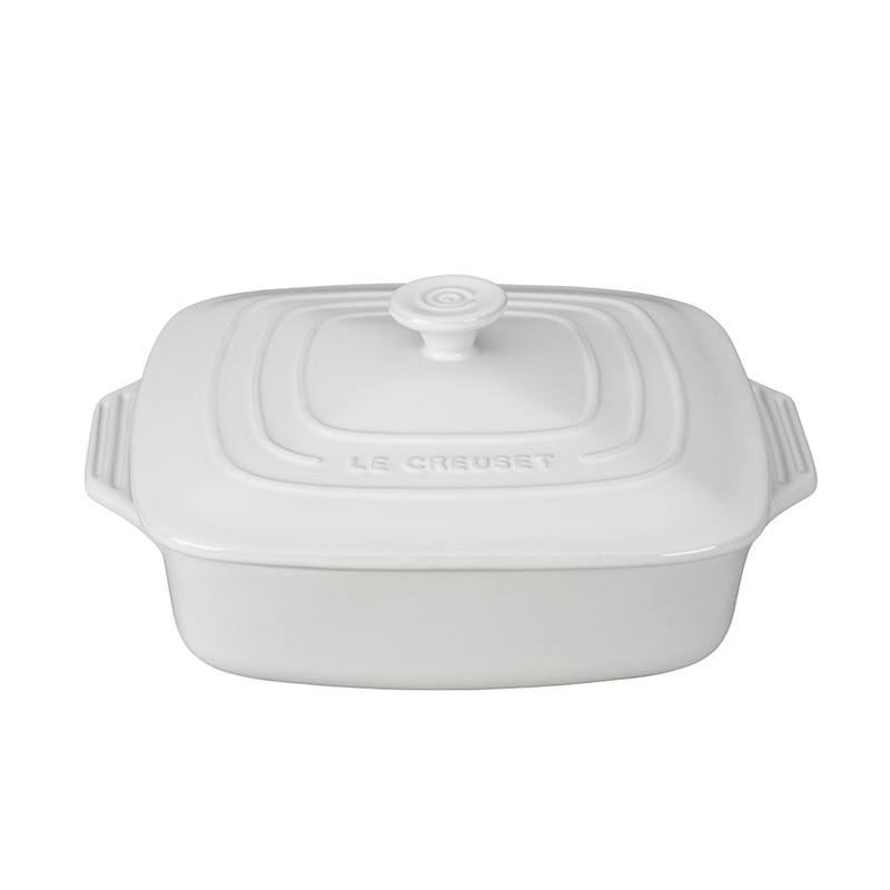 Le Creuset Square Casserole in White