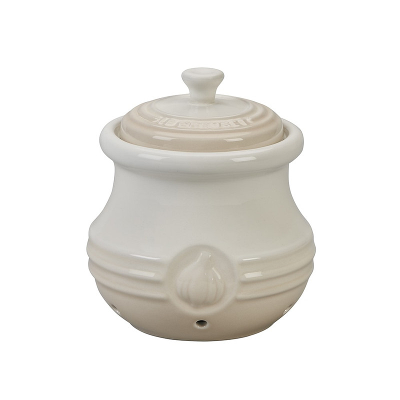 Le Creuset Garlic Keeper in Meringue