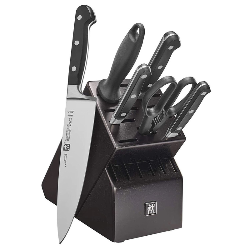 Zwilling Professional S 7-Piece Knife Block Set in Black