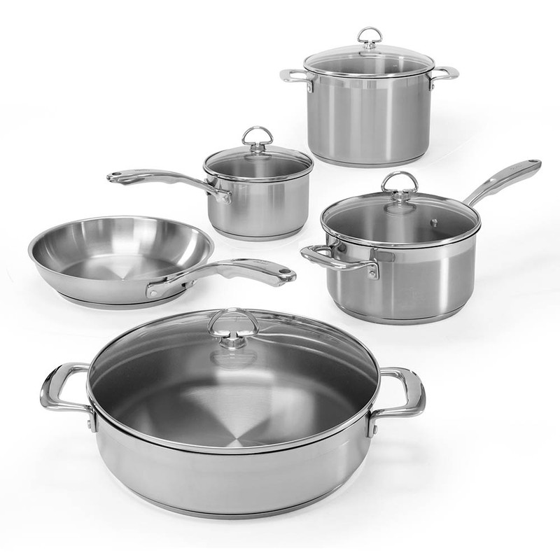 Chantal Induction 21 Steel 9-Piece Cookware Set