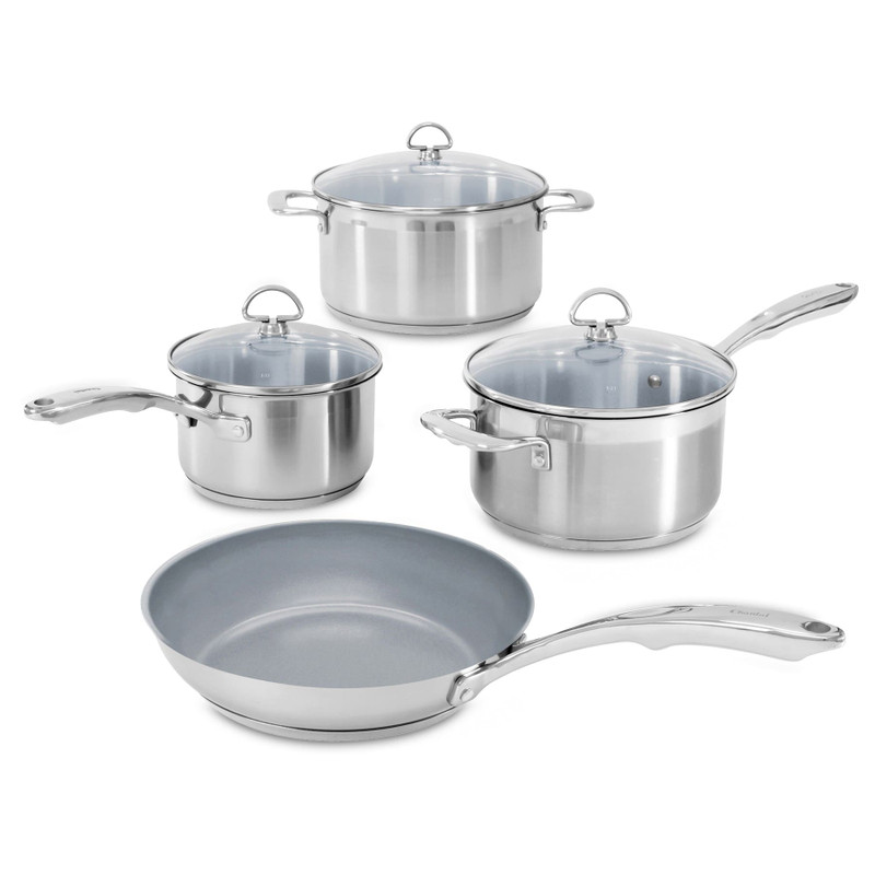 Chantal Induction 21 Steel Ceramic Coated 7-Piece Cookware Set