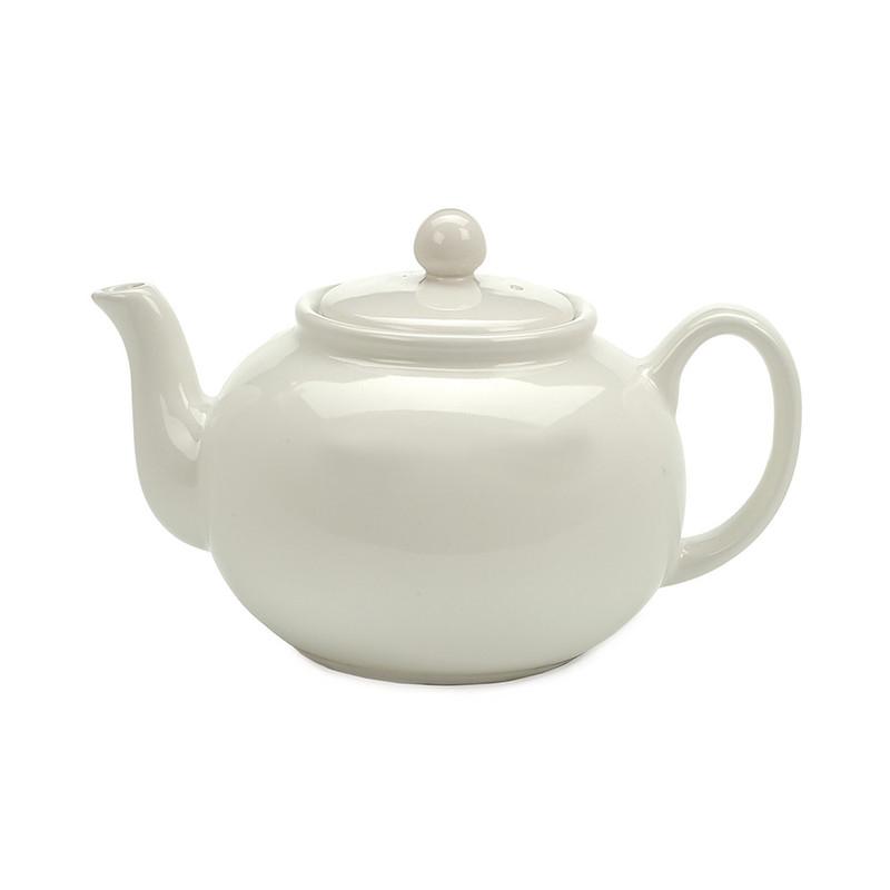 RSVP Stoneware Teapot in White