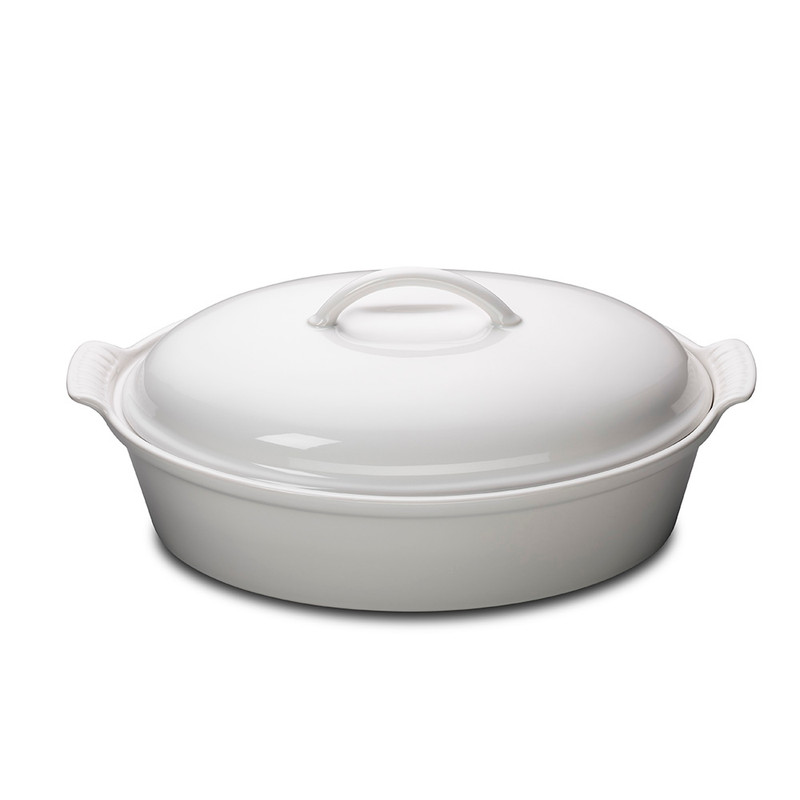 Le Creuset Heritage Oval Casserole in White