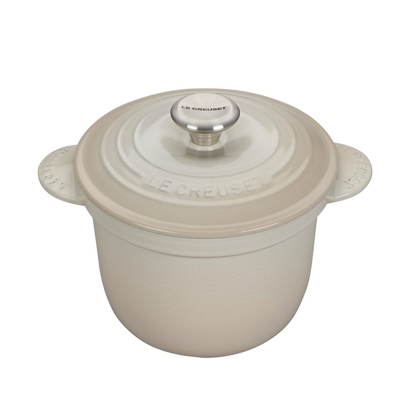 Le Creuset Cast Iron Rice Pot in Meringue