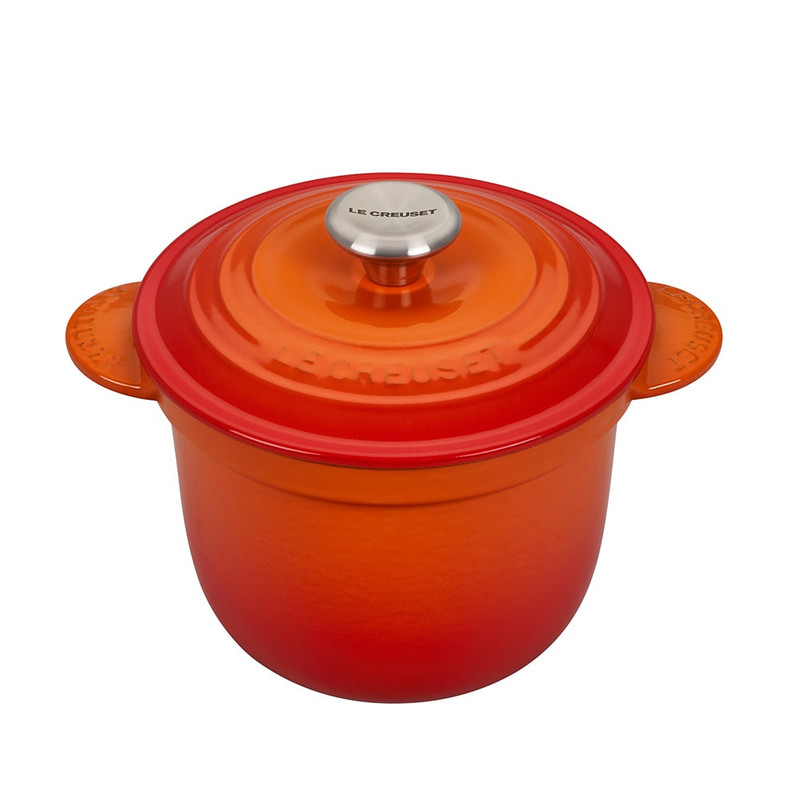 Le Creuset Cast Iron Rice Pot in Flame